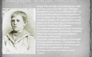 Федор достоевский – биография, семья, фото