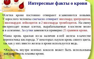 Интересные факты о крови
