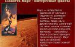 Интересные факты о марсе