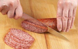 Почему колбасу режут под углом – интересные факты