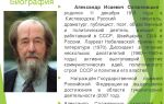 Биография александра солженицына
