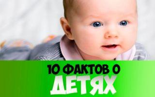Интересные факты про детей