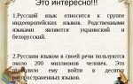 Особенности русского языка – интересные факты