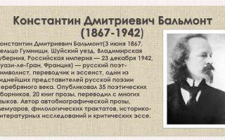 Константин бальмонт – биография, факты, фото