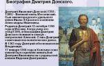 Дмитрий донской – биография, правление, факты